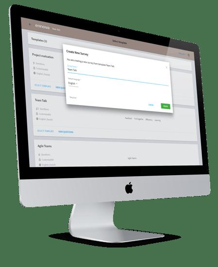 Ennova Team-Talk - Quick and easy survey set-up